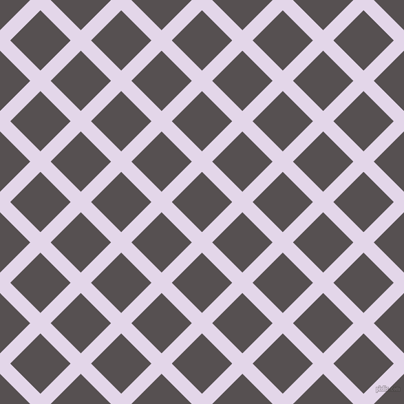 45/135 degree angle diagonal checkered chequered lines, 21 pixel line width, 62 pixel square size, Blue Chalk and Mortar plaid checkered seamless tileable