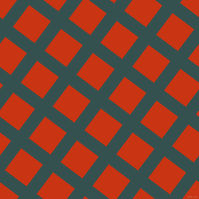 53/143 degree angle diagonal checkered chequered lines, 44 pixel line width, 95 pixel square size, Blue Dianne and Harley Davidson Orange plaid checkered seamless tileable