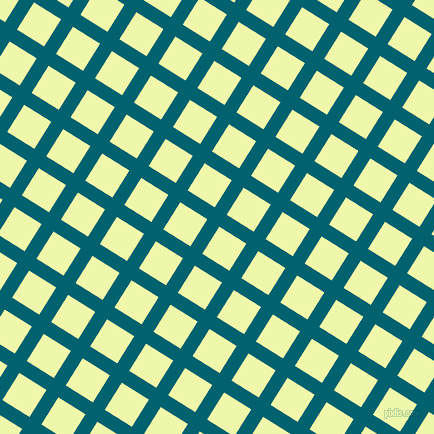 58/148 degree angle diagonal checkered chequered lines, 14 pixel lines width, 32 pixel square size, Blue Lagoon and Australian Mint plaid checkered seamless tileable