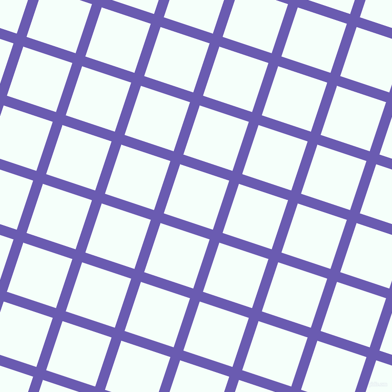 72/162 degree angle diagonal checkered chequered lines, 20 pixel lines width, 101 pixel square size, Blue Marguerite and Mint Cream plaid checkered seamless tileable