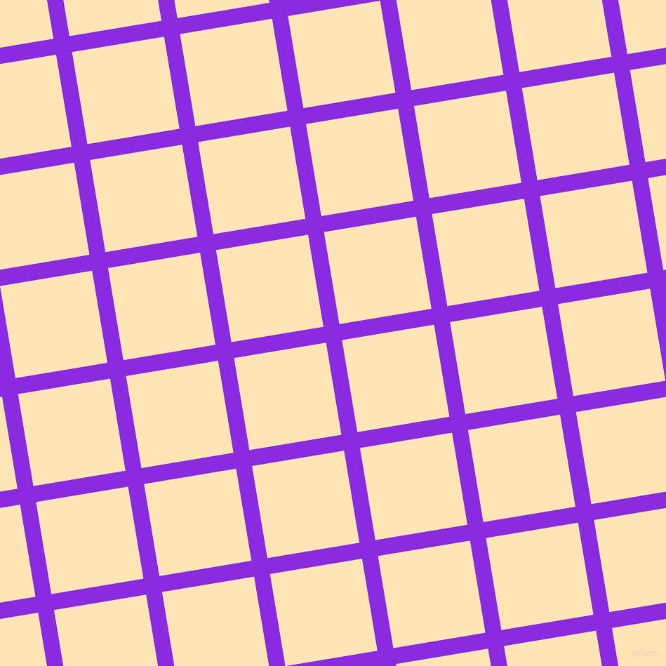 9/99 degree angle diagonal checkered chequered lines, 23 pixel line width, 133 pixel square sizeBlue Violet and Moccasin plaid checkered seamless tileable