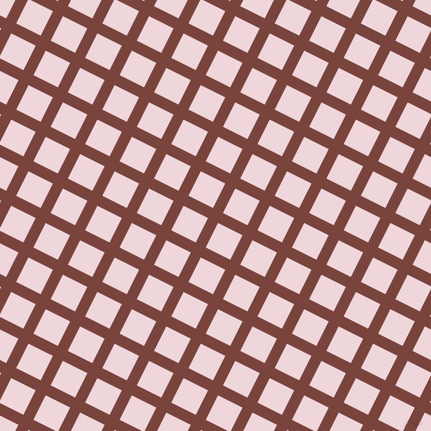 63/153 degree angle diagonal checkered chequered lines, 22 pixel lines width, 54 pixel square size, Bole and Pale Rose plaid checkered seamless tileable