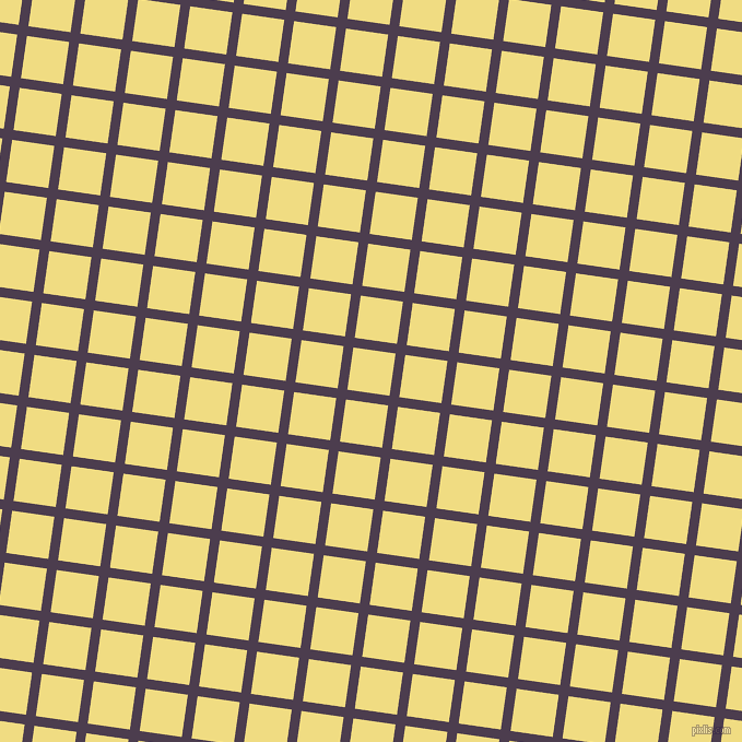 82/172 degree angle diagonal checkered chequered lines, 9 pixel lines width, 39 pixel square size, Bossanova and Buff plaid checkered seamless tileable