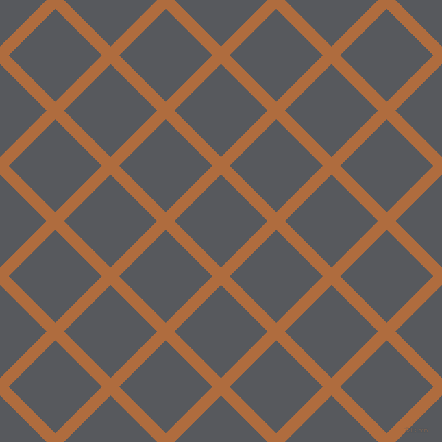 45/135 degree angle diagonal checkered chequered lines, 18 pixel lines width, 96 pixel square size, Bourbon and Bright Grey plaid checkered seamless tileable
