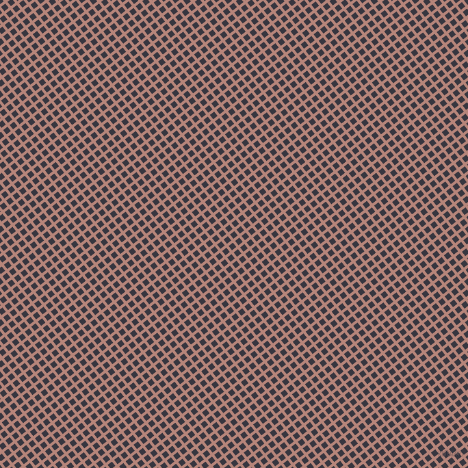 38/128 degree angle diagonal checkered chequered lines, 4 pixel line width, 8 pixel square size, Brandy Rose and Revolver plaid checkered seamless tileable