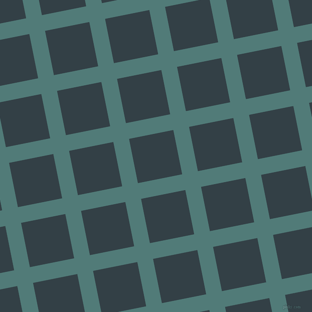 11/101 degree angle diagonal checkered chequered lines, 32 pixel line width, 90 pixel square size, Breaker Bay and Big Stone plaid checkered seamless tileable
