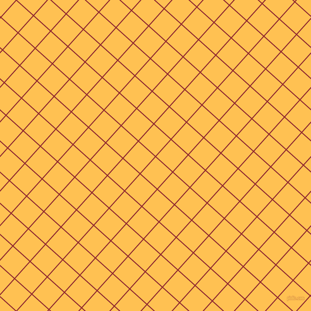 48/138 degree angle diagonal checkered chequered lines, 2 pixel lines width, 45 pixel square size, Bright Red and Golden Tainoi plaid checkered seamless tileable