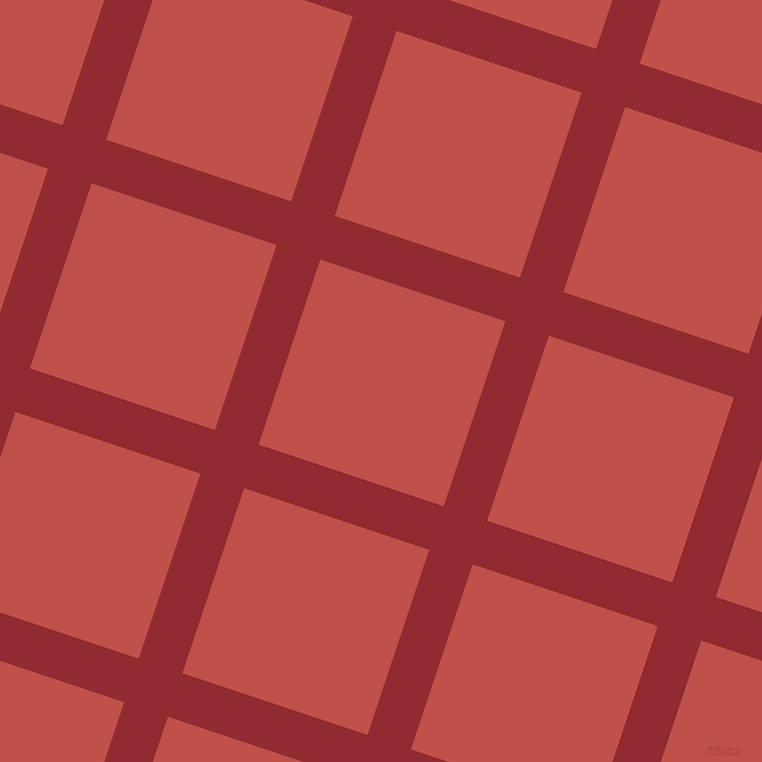 72/162 degree angle diagonal checkered chequered lines, 46 pixel lines width, 195 pixel square size, Bright Red and Sunset plaid checkered seamless tileable