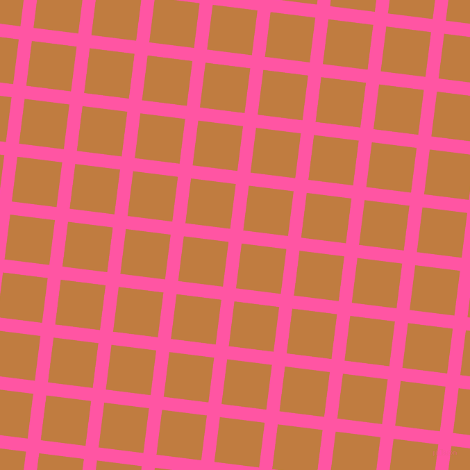 83/173 degree angle diagonal checkered chequered lines, 19 pixel line width, 65 pixel square size, Brilliant Rose and Brandy Punch plaid checkered seamless tileable