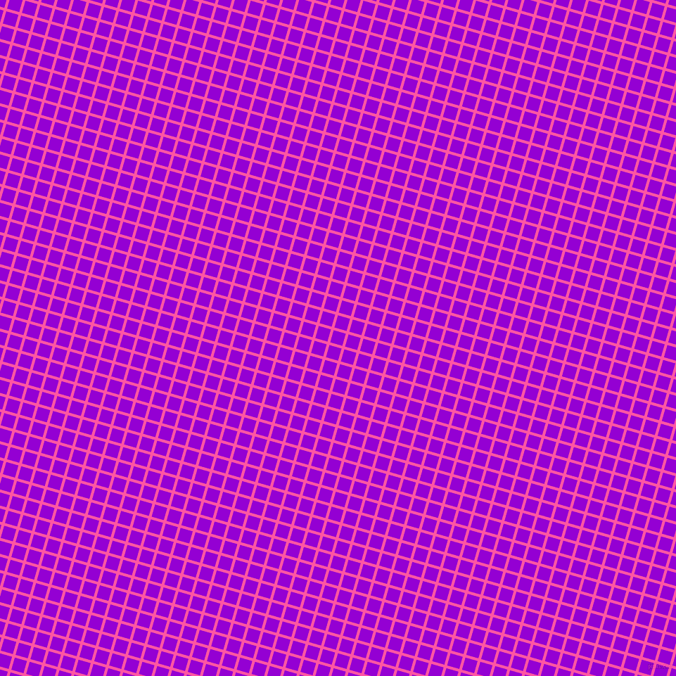 74/164 degree angle diagonal checkered chequered lines, 4 pixel line width, 18 pixel square size, Brilliant Rose and Dark Violet plaid checkered seamless tileable