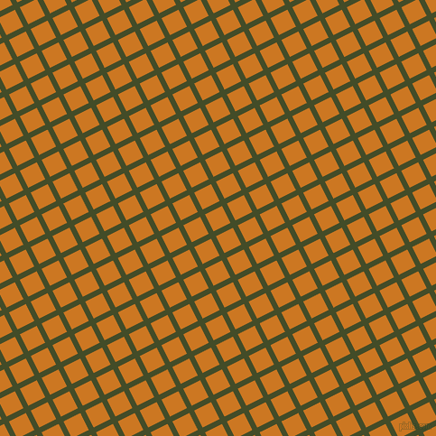 27/117 degree angle diagonal checkered chequered lines, 6 pixel line width, 21 pixel square size, Bronzetone and Ochre plaid checkered seamless tileable