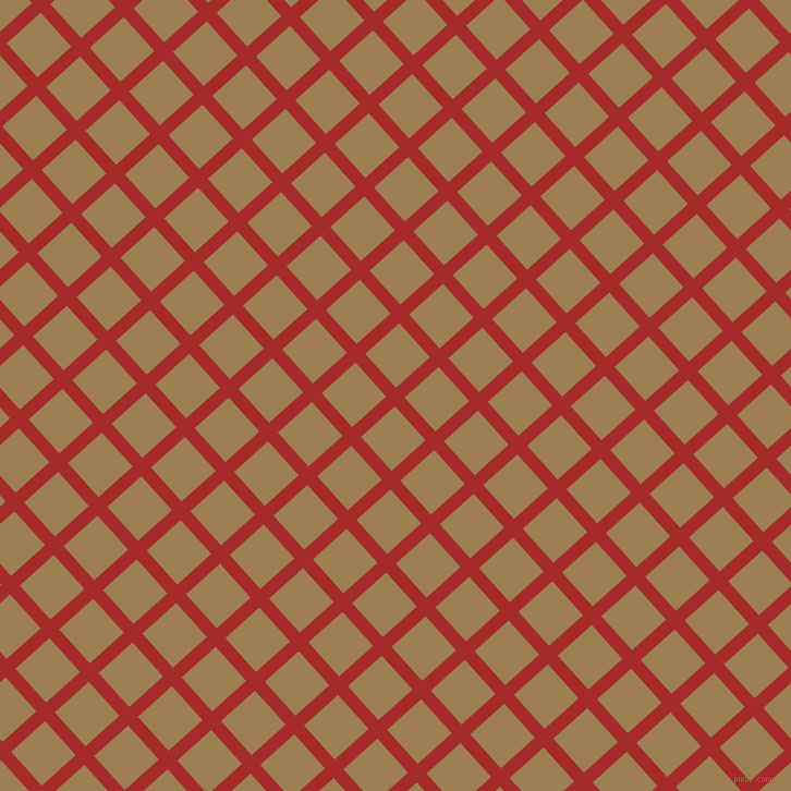42/132 degree angle diagonal checkered chequered lines, 12 pixel line width, 42 pixel square size, Brown and Muesli plaid checkered seamless tileable