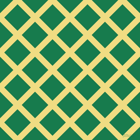 45/135 degree angle diagonal checkered chequered lines, 19 pixel line width, 60 pixel square size, Buff and Salem plaid checkered seamless tileable