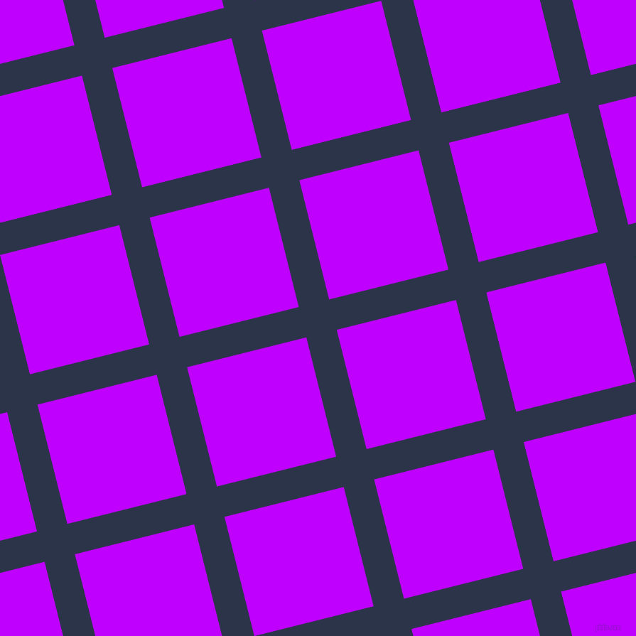 14/104 degree angle diagonal checkered chequered lines, 44 pixel line width, 173 pixel square size, Bunting and Electric Purple plaid checkered seamless tileable