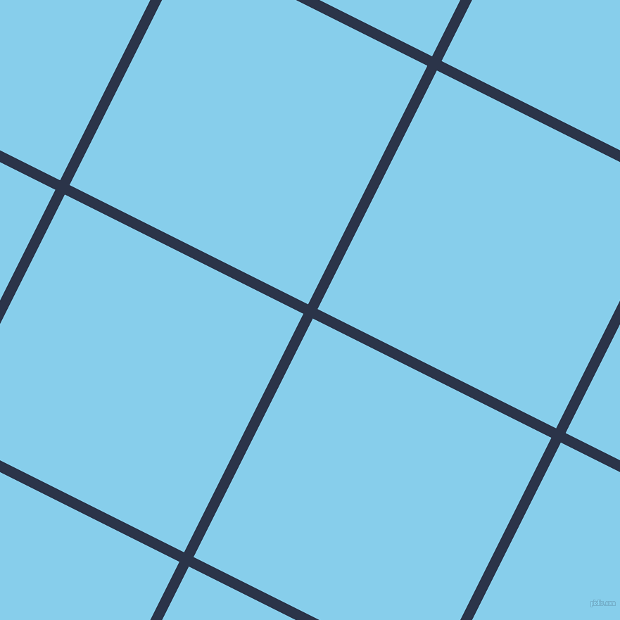 63/153 degree angle diagonal checkered chequered lines, 15 pixel lines width, 379 pixel square size, Bunting and Sky Blue plaid checkered seamless tileable