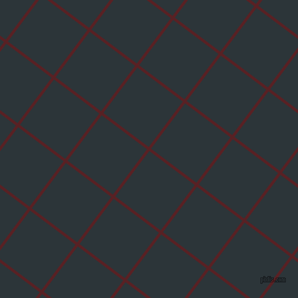 53/143 degree angle diagonal checkered chequered lines, 4 pixel lines width, 80 pixel square size, Burnt Crimson and Gunmetal plaid checkered seamless tileable