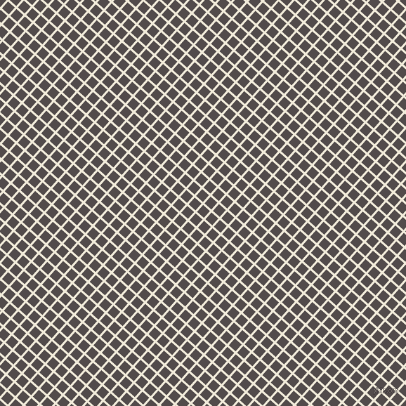 48/138 degree angle diagonal checkered chequered lines, 3 pixel lines width, 13 pixel square size, Buttery White and Matterhorn plaid checkered seamless tileable