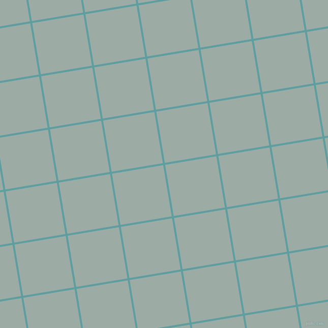 9/99 degree angle diagonal checkered chequered lines, 4 pixel line width, 102 pixel square size, Cadet Blue and Tower Grey plaid checkered seamless tileable
