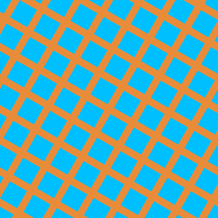 60/150 degree angle diagonal checkered chequered lines, 25 pixel lines width, 69 pixel square size, California and Deep Sky Blue plaid checkered seamless tileable