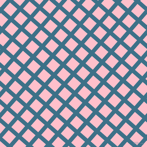 49/139 degree angle diagonal checkered chequered lines, 14 pixel line width, 34 pixel square size, Calypso and Pink plaid checkered seamless tileable