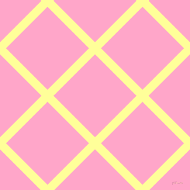 45/135 degree angle diagonal checkered chequered lines, 28 pixel lines width, 193 pixel square size, Canary and Carnation Pink plaid checkered seamless tileable