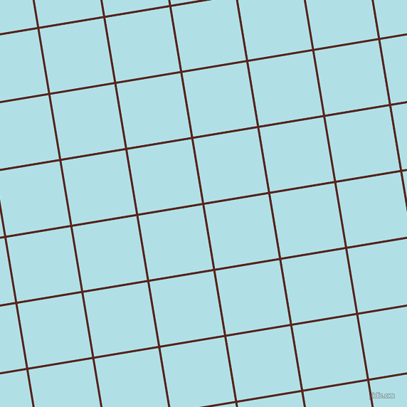 9/99 degree angle diagonal checkered chequered lines, 3 pixel lines width, 91 pixel square size, Caput Mortuum and Powder Blue plaid checkered seamless tileable