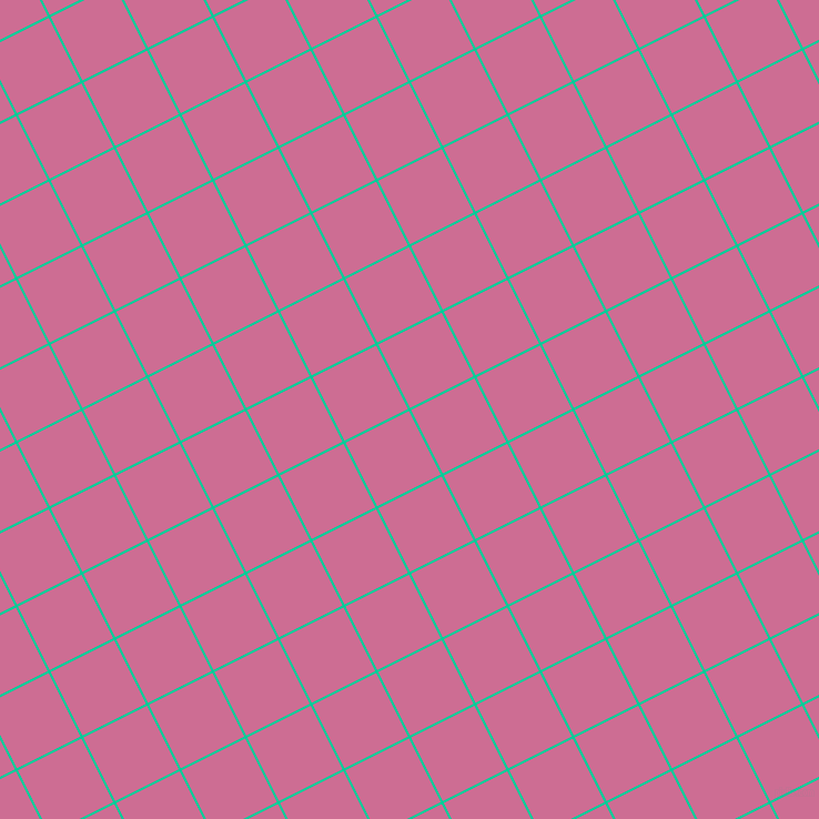 27/117 degree angle diagonal checkered chequered lines, 2 pixel lines width, 64 pixel square size, Caribbean Green and Hopbush plaid checkered seamless tileable