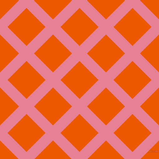 45/135 degree angle diagonal checkered chequered lines, 34 pixel lines width, 86 pixel square size, Carissma and Persimmon plaid checkered seamless tileable