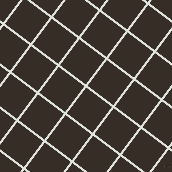 53/143 degree angle diagonal checkered chequered lines, 9 pixel line width, 136 pixel square size, Catskill White and Coffee Bean plaid checkered seamless tileable