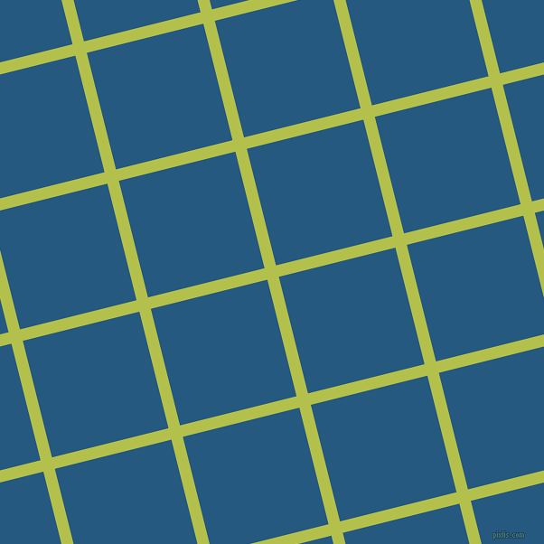 14/104 degree angle diagonal checkered chequered lines, 13 pixel line width, 133 pixel square size, Celery and Bahama Blue plaid checkered seamless tileable