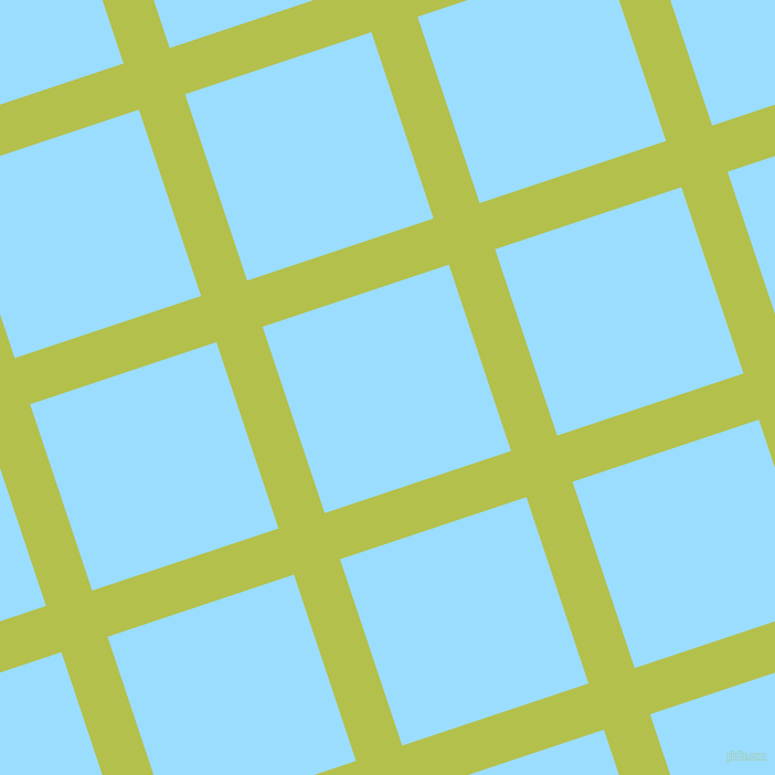 18/108 degree angle diagonal checkered chequered lines, 44 pixel lines width, 178 pixel square size, Celery and Columbia Blue plaid checkered seamless tileable
