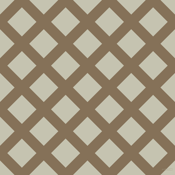 45/135 degree angle diagonal checkered chequered lines, 34 pixel line width, 68 pixel square size, Cement and Kangaroo plaid checkered seamless tileable