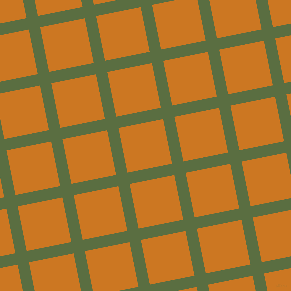 11/101 degree angle diagonal checkered chequered lines, 39 pixel line width, 154 pixel square size, Chalet Green and Ochre plaid checkered seamless tileable