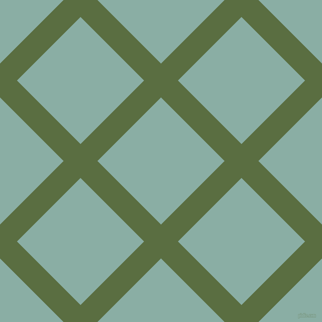 45/135 degree angle diagonal checkered chequered lines, 48 pixel line width, 180 pixel square size, Chalet Green and Sea Nymph plaid checkered seamless tileable