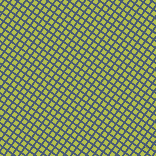 54/144 degree angle diagonal checkered chequered lines, 6 pixel line width, 15 pixel square size, Chambray and Celery plaid checkered seamless tileable