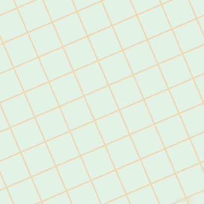 23/113 degree angle diagonal checkered chequered lines, 3 pixel line width, 51 pixel square size, Champagne and Frosted Mint plaid checkered seamless tileable