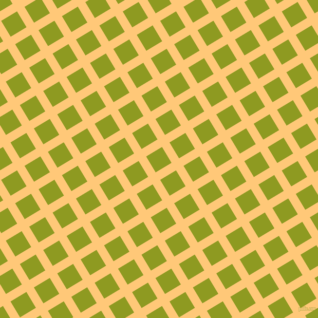 31/121 degree angle diagonal checkered chequered lines, 18 pixel lines width, 38 pixel square size, Chardonnay and Citron plaid checkered seamless tileable