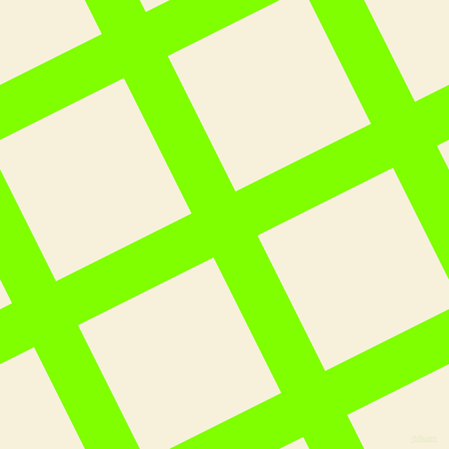 27/117 degree angle diagonal checkered chequered lines, 70 pixel line width, 216 pixel square size, Chartreuse and Apricot White plaid checkered seamless tileable