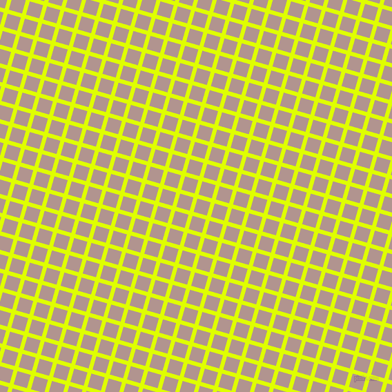74/164 degree angle diagonal checkered chequered lines, 6 pixel line width, 20 pixel square size, Chartreuse Yellow and Thatch plaid checkered seamless tileable
