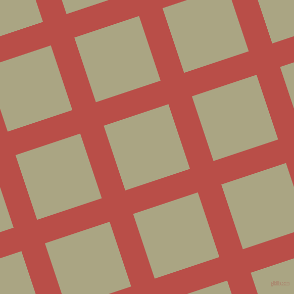 18/108 degree angle diagonal checkered chequered lines, 49 pixel lines width, 135 pixel square size, Chestnut and Neutral Green plaid checkered seamless tileable