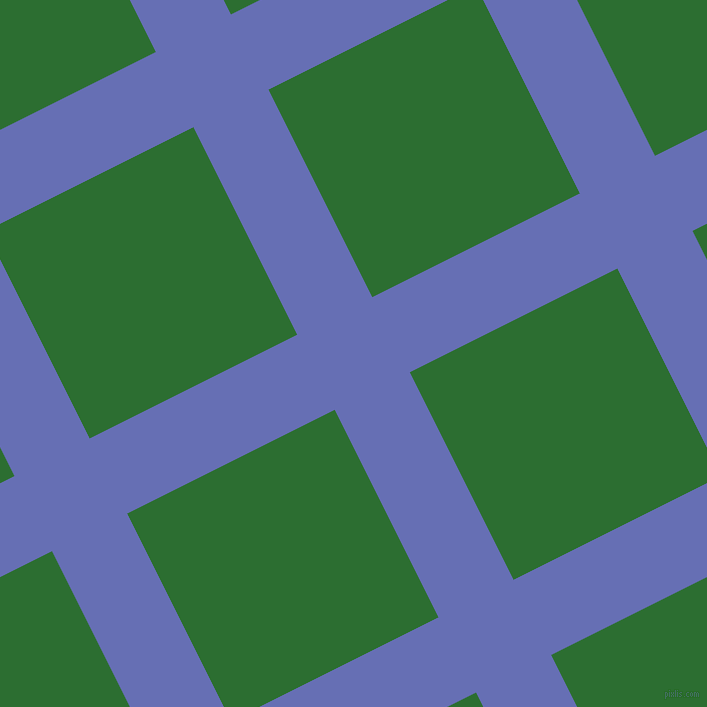 27/117 degree angle diagonal checkered chequered lines, 84 pixel lines width, 232 pixel square size, Chetwode Blue and San Felix plaid checkered seamless tileable