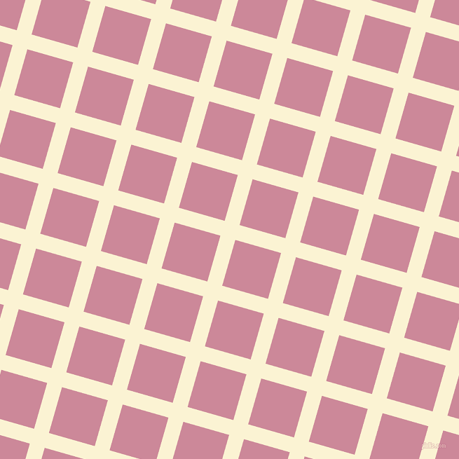 74/164 degree angle diagonal checkered chequered lines, 22 pixel lines width, 68 pixel square size, China Ivory and Puce plaid checkered seamless tileable