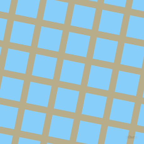 79/169 degree angle diagonal checkered chequered lines, 21 pixel lines width, 69 pixel square size, Chino and Light Sky Blue plaid checkered seamless tileable