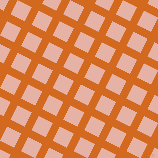 63/153 degree angle diagonal checkered chequered lines, 26 pixel line width, 53 pixel square size, Chocolate and Shilo plaid checkered seamless tileable