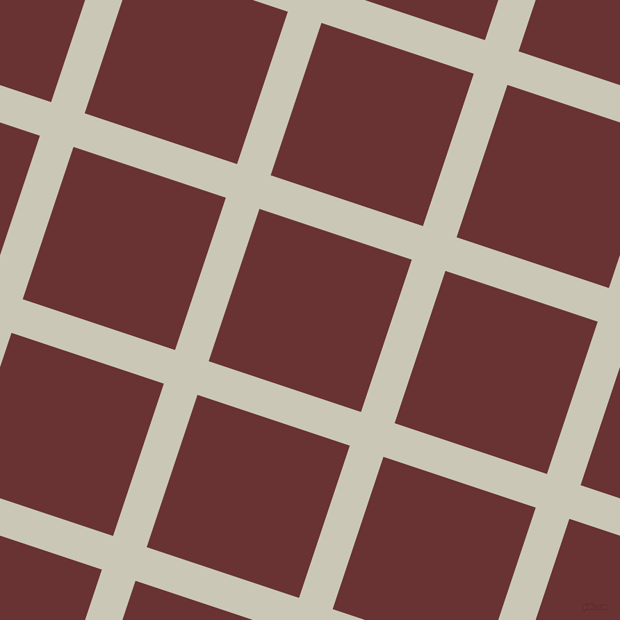 72/162 degree angle diagonal checkered chequered lines, 51 pixel lines width, 231 pixel square size, Chrome White and Persian Plum plaid checkered seamless tileable