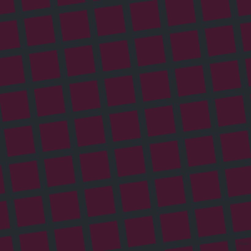 8/98 degree angle diagonal checkered chequered lines, 25 pixel line width, 91 pixel square size, Cinder and Blackberry plaid checkered seamless tileable