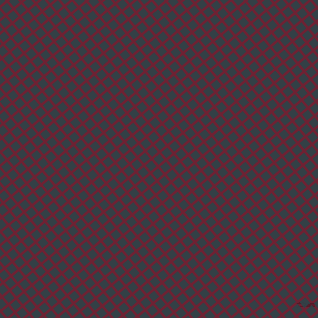 40/130 degree angle diagonal checkered chequered lines, 5 pixel line width, 15 pixel square size, Claret and Big Stone plaid checkered seamless tileable