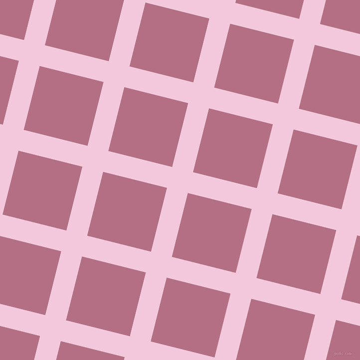 76/166 degree angle diagonal checkered chequered lines, 43 pixel line width, 132 pixel square size, Classic Rose and Tapestry plaid checkered seamless tileable