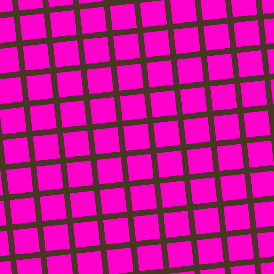 6/96 degree angle diagonal checkered chequered lines, 19 pixel line width, 80 pixel square size, Clinker and Hot Magenta plaid checkered seamless tileable