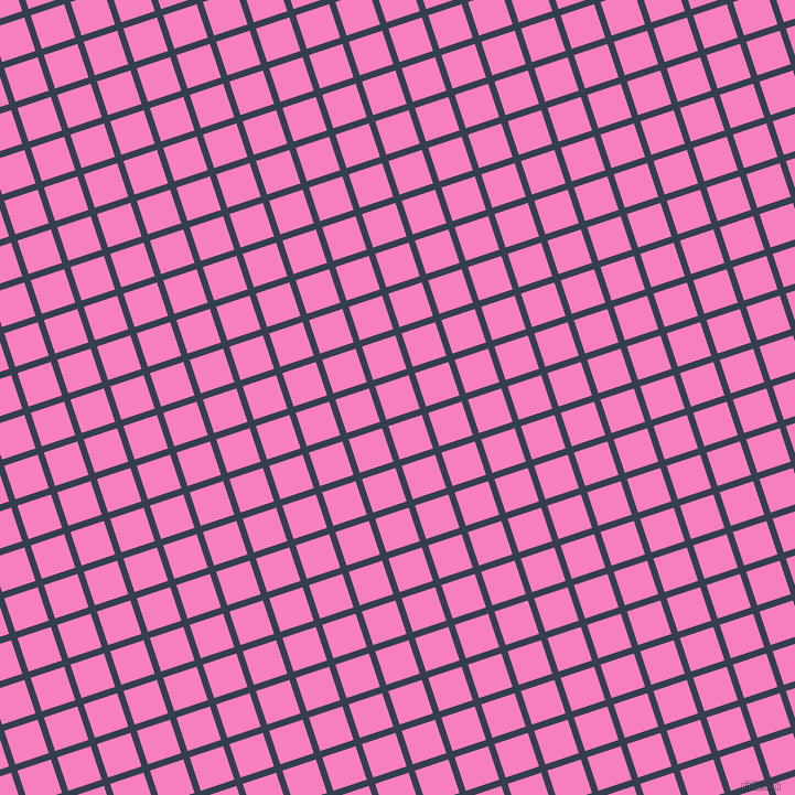 18/108 degree angle diagonal checkered chequered lines, 6 pixel lines width, 32 pixel square size, Cloud Burst and Persian Pink plaid checkered seamless tileable